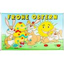 Flagge 90 x 150 : Frohe Ostern Sonne