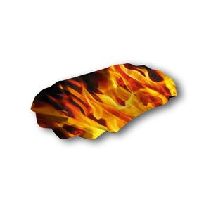 Flammenoptik HOT - Pappschale 16 x 10 x 3 cm