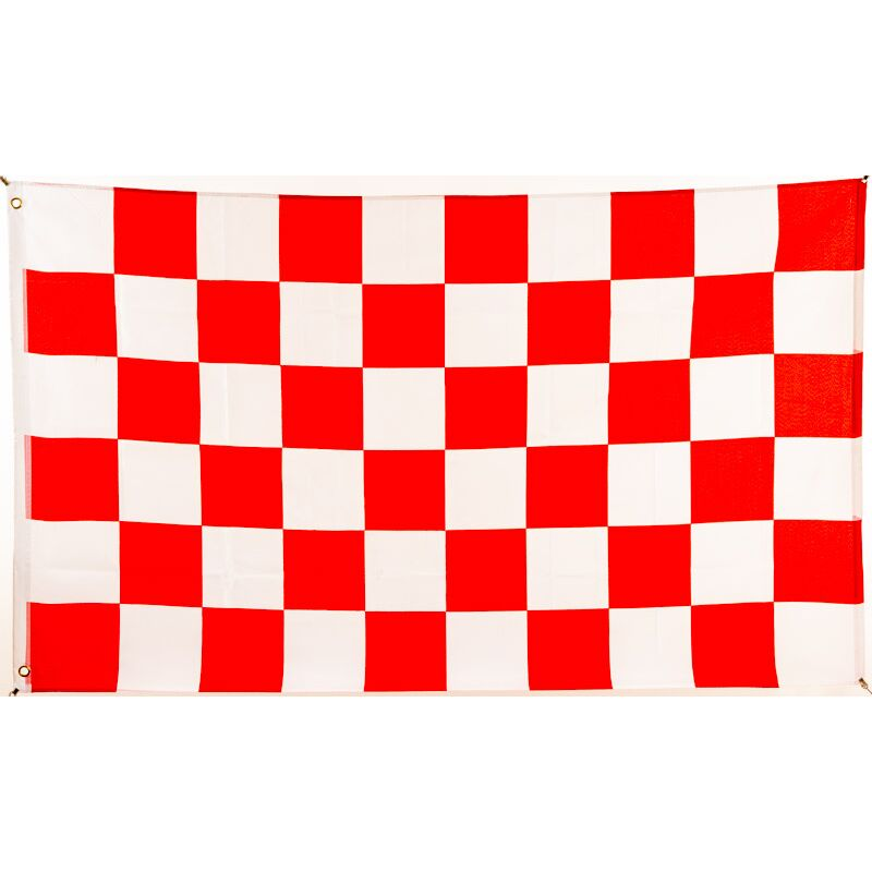Flagge 90 X 150 : Karo Rot/weiß, 9,95